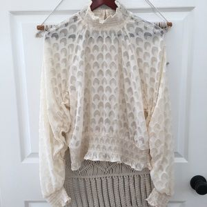 H&M Victorian High Neck Long Sleeve Blouse